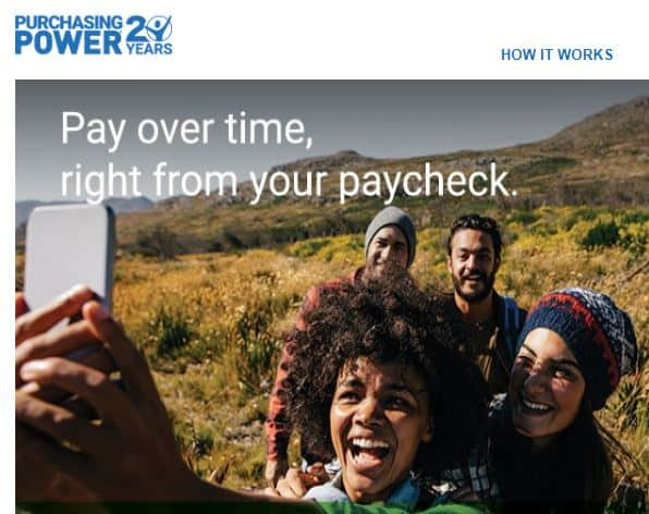 purchasing power federal employee website program screenshot